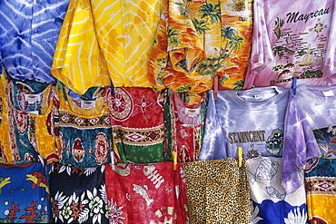 Colourful Souvenir T-Shirts, Petit Rameau Island, Tobago Cays, St. Vincent & The Grenadines, Carribean