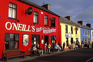 Colorful Pubs & Restaurants, O'Neills Restaurant & The Bull Rock Pub, Beara Peninsula, Allihies, County Cork, Ireland