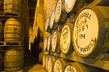 Irish Whiskey Barrels, Tyrconnell Irish Whiskey, Locke's Distillery Museum, Kilbeggan, County Westmeath, Ireland