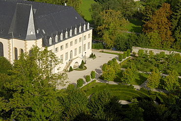 Former hospital at a park, Hospice Civil du Pfaffenthal, Luxembourg city, Luxembourg, Europe