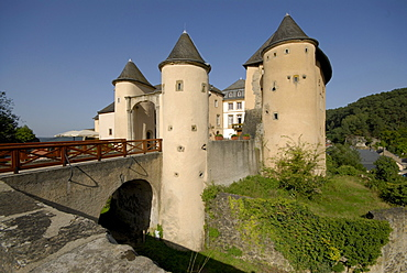 Bourglinster castle in the sunlight, Luxembourg, Europe