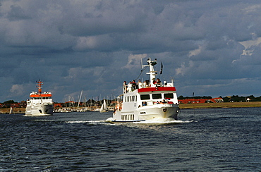 Ferry, Spiekeroog, East Frisia, Germany