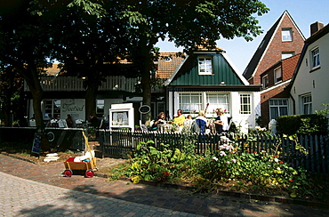Houses, Spiekeroog, North sea, East Frisia, Germany