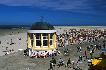 Beach, Borkum, East Frisia, Germany