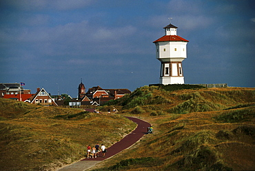 Lighthouse, Langeoog, North Sea, East Frisia, Germany