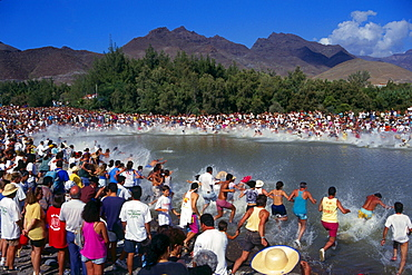 El Charo, Celebration of the Pond, San Nicolas de Tolentino, Gran Canaria, Canary Islands, Spain