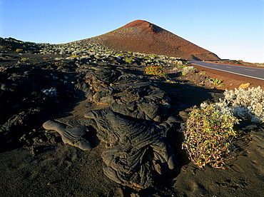 Lava field of extinct vulcano near La Restlinga, El Hierro, Canary Islands, Spain