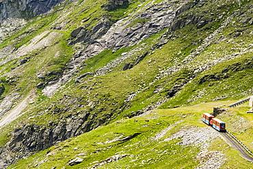 Narrow-gauge railway Reisseckbahn (high-altitude alpine railway of Austria) on the way, Kolbnitz, Carinthia, Austria
