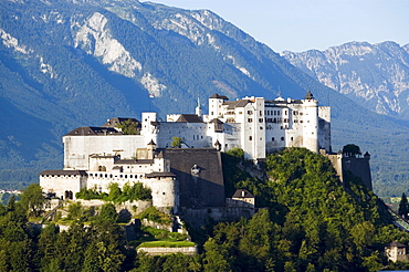 Hohensalzburg Fortress, largest, fully-preserved fortress in central Europe, Salzburg, Salzburg, Austria, Since 1996 historic centre of the city part of the UNESCO World Heritage Site