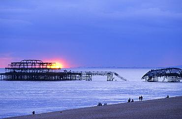 Europe, England, East Sussex, Brighton, West Pier