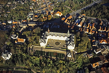 aerial photo of Ploener castle, Schleswig Holstein, northern Germany
