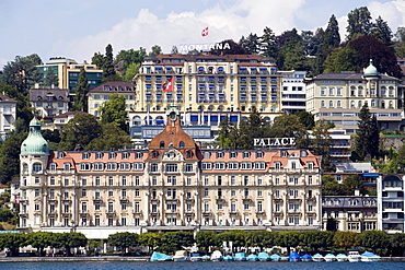 Palace Hotel and Art Deco Hotel Montana, Lucerne, Canton Lucerne, Switzerland