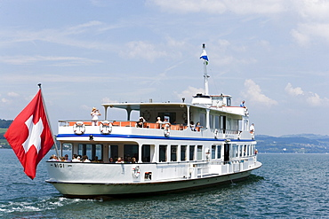 Motorship MS Rigi on Lake Lucerne, Stansstad, Canton of Nidwalden, Switzerland
