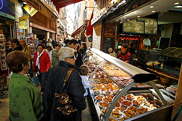 France old city cnter food stall with specialities from Nice