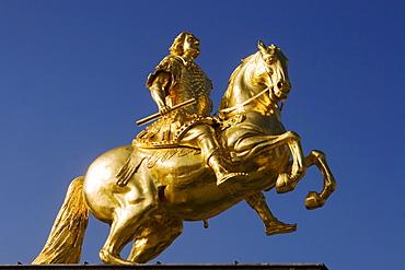 Dresden, goln equestian of August r Starke, sculpture