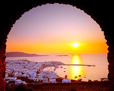 Panoramic view, Mykonos City, Cyclades, Greece