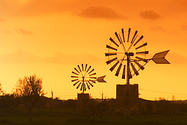Mallorca wind mills at Sant Jordi valley