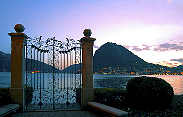 Switzerland, sunset, San Salvatore