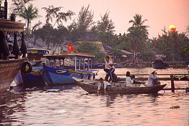 Boats of floating market, Hoi An, Vietnam