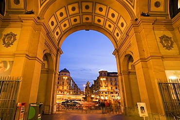 Switzerland, Zuerich, railway station at twilight