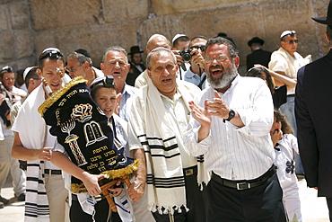 Bar Mitzvah at the Wailing Wall, Jerusalem, Israel