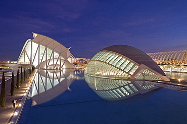 City of Arts and Sciences, Ciudad de las Artes y las Ciencias, L'Hemispheric, Valencia, Spain