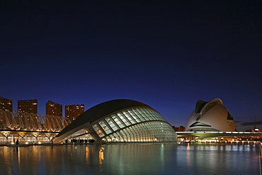 City of Arts and Sciences, Ciudad de las Artes y las Ciencias, L'Hemispheric, architect, Calatrava, Valencia, Spain