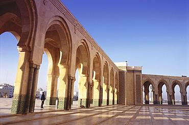 Hassan II Mosque, Arcade, Casablanca, Marocco, Africa
