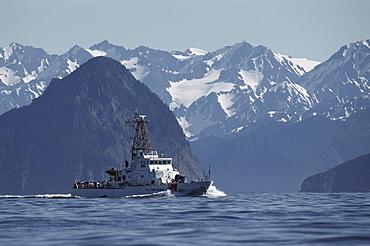 Coast Guard Ship in Resurrection Bay, Alaska, USA