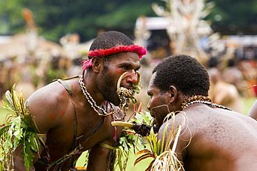 Men at Singsing Dance, Lae, Papue New Guinea, Oceania