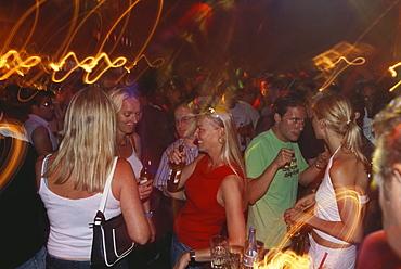 People celebrating in Purpur Bar, City Life, Nightlife, Zurich, Switzerland