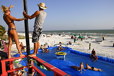 Spring break party in Fort Myers Beach, Florida, USA