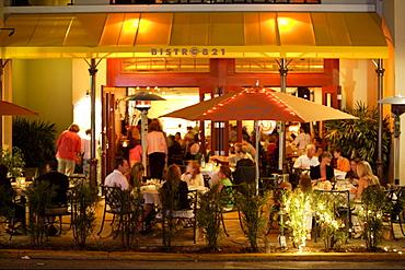 Dining on 5th Avenue, Naples, Florida, USA