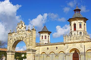 Wines of Bordeaux: Cos d'Estournel in the MÈdoc, St. Estephe, dept Gironde, France, Europe