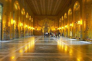 Golden Hall in the Stadshuset on the Island of Kungsholmen, Stockholm, Sweden