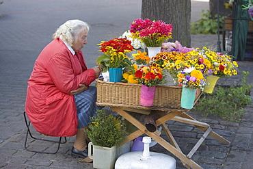 Flower vendor on Esplanade