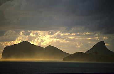 Lord Howe Island, North Head (l) and Mt. Eliza (r), Australian