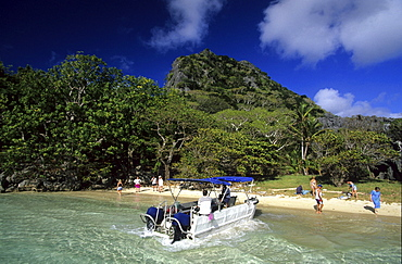 Sawa-I-Lau and the Blue Lagoon, Yasawa group, Yasawa group, Fiji, South Sea
