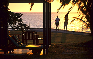 Sunset at the resort, Heron Island, Great Barrier Reef, Australia