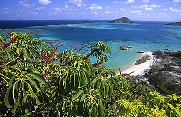 View over the Blue Lagoon, Lizard Island, Great Barrier Reef, Australia