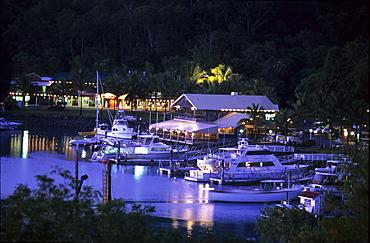 Marina on Hamilton Island in the evening, Whitsunday Islands, Great Barrier Reef, Australia