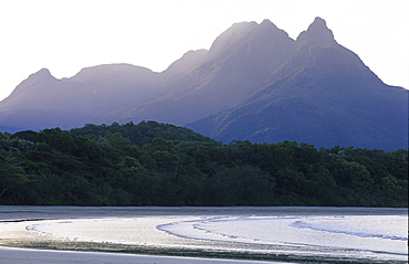 Zoe Bay with The Thump in the background, Hinchinbrook Island, Great Barrier Reef, Australia