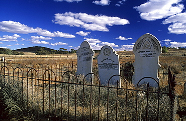 The cemetery of the old mining town of Blinman, Flinders Ranges, South Australia, Australia