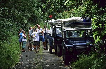 4x4, 4WD, Four-wheel drive tour of the island, Tahiti, French Polynesia, south sea