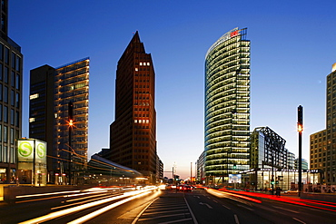 Berlin, Potsdamer Platz, Sony Center, DB tower