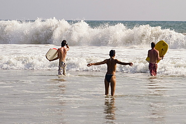 India Kerala Vakala beach surfer