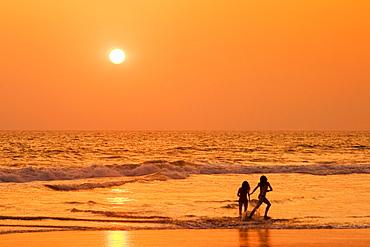 India Kerala Vakala beach sunset