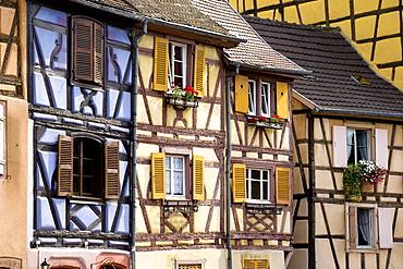 Half-timbered houses in Little Venice, la Petite Venise, Colmar, Alsace, France