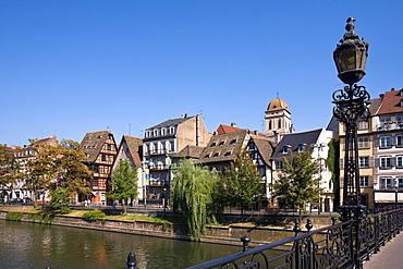 Bridge over the river Ill, Quai des Bateliers, Strasbourg, Alsace, France