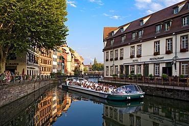 Boat trip on the river, Petite France, Strasbourg, Alsace, France